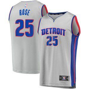 Men's NBA Nike Detroit Pistons Derrick Rose Jersey